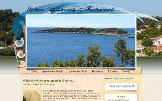 Korcula-grscica.com apartmani i restoran Gršćica