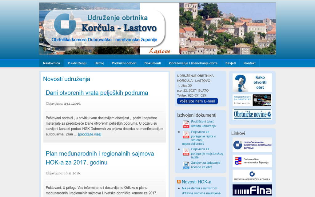 Udruženje obrtnika Korčula-Lastovo